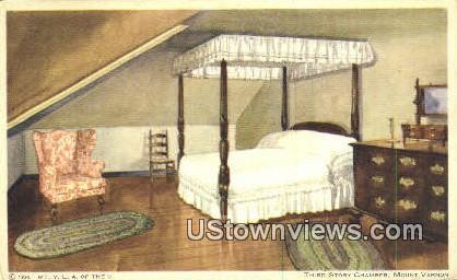 Third Story Chamber  - Mount Vernon, Virginia VA Postcard
