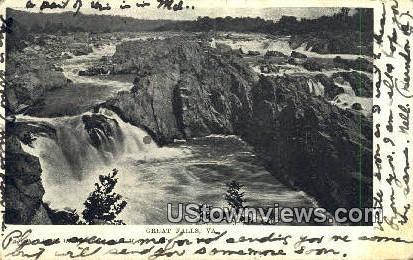 Great Falls, Virginia, VA, Postcard