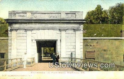 Entrance  - Fortress Monroe, Virginia VA Postcard