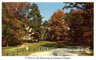 University Of Richmond  - Virginia VA Postcard