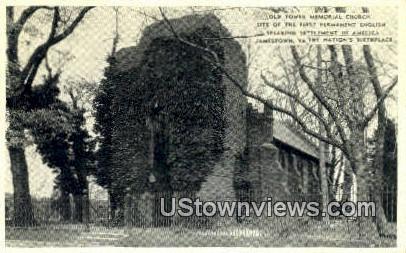 Old Tower Memorial Church  - Jamestown, Virginia VA Postcard