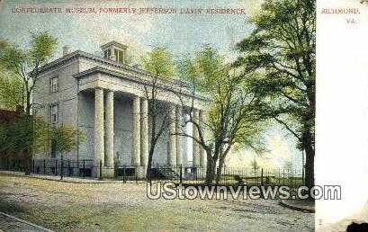 Confederate Monuemnt  - Richmond, Virginia VA Postcard
