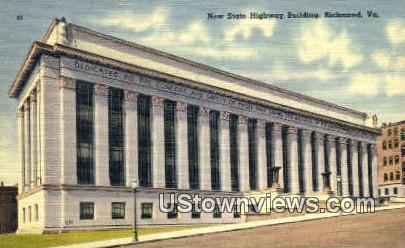 New State Highway Building - Richmond, Virginia VA Postcard