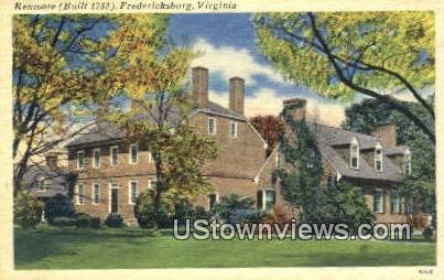 Kenmore Library  - Fredericksburg, Virginia VA Postcard