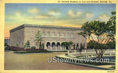 Norfolk Museum Arts & Sciences - Virginia VA Postcard