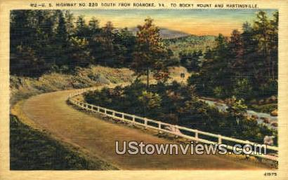 High Way  - Roanoke, Virginia VA Postcard