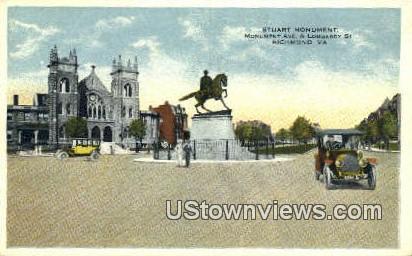 Staurat Monument  - Richmond, Virginia VA Postcard