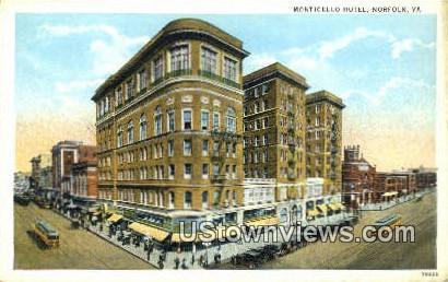 Monticelo Hotel  - Norfolk, Virginia VA Postcard