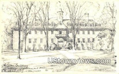 The Wren Building  - Williamsburg, Virginia VA Postcard