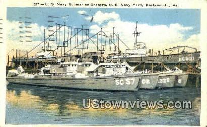 Us Navy Submarine Chasers Nav Yard - Portsmouth, Virginia VA Postcard