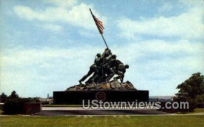 United States Marine Corps Memorial  - Arlington, Virginia VA Postcard