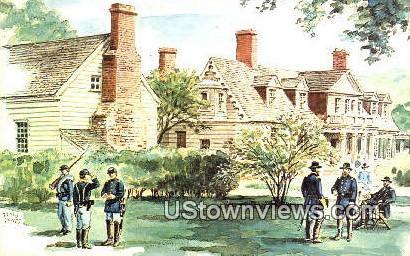 Appomattox Manor City Point  - Hopewell, Virginia VA Postcard