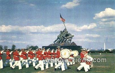 Us Marine Corps War Memorial  - Alexandria, Virginia VA Postcard