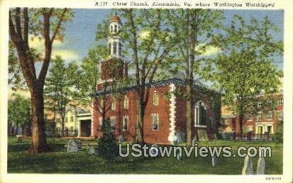 Christ Chruch  - Alexandria, Virginia VA Postcard