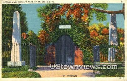 George Washingtons Tomb  - Mount Vernon, Virginia VA Postcard