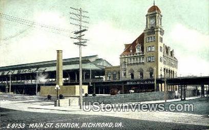 Main Street Station  - Richmond, Virginia VA Postcard