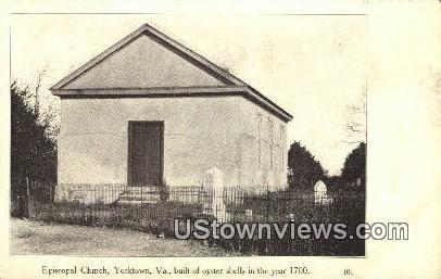 Episcopal Church  - Yorktown, Virginia VA Postcard