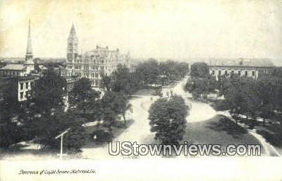 Panorama Of Cpaitol Square  - Richmond, Virginia VA Postcard