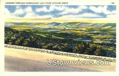 Looking Through Newmarket Gap  - Skyline Drive, Virginia VA Postcard
