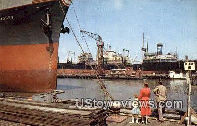 Ship Building  - Newport News, Virginia VA Postcard