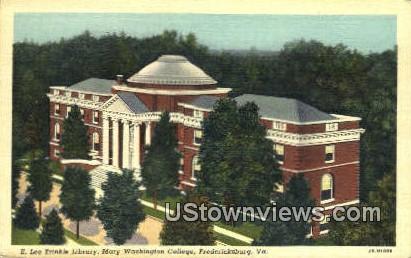 E Lee Trinkle Library  - Fredericksburg, Virginia VA Postcard