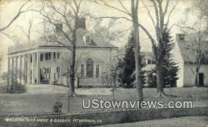 Washingtons Home And Garden  - Mount Vernon, Virginia VA Postcard