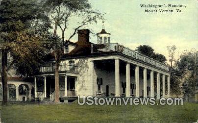 Washingtons Mansion  - Mount Vernon, Virginia VA Postcard