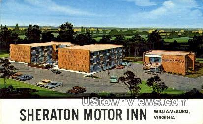 Sheraton Motor Inn  - Williamsburg, Virginia VA Postcard