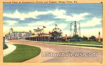 General View Amusement Center - Ocean View, Virginia VA Postcard