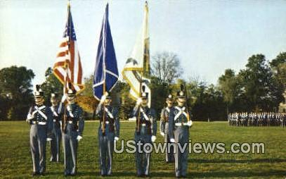 The Cadet Color Guard  - Lexington, Virginia VA Postcard