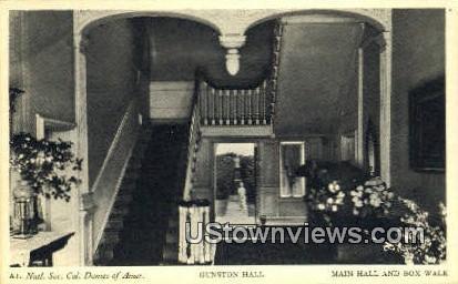 Main Hall And Box Walk  - Gunston Hall, Virginia VA Postcard