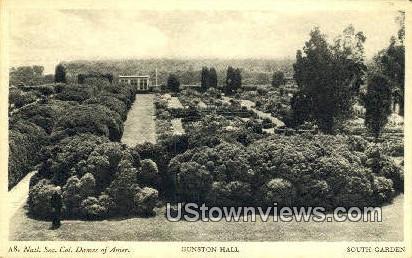 South Garden  - Gunston Hall, Virginia VA Postcard
