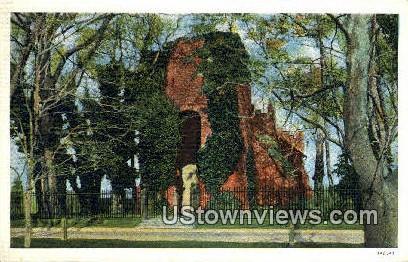 Chruch Graveyard At Jamestown  - Virginia VA Postcard