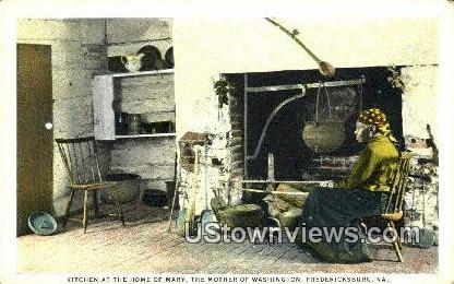 Home Of Mary Washingtons Mother  - Fredericksburg, Virginia VA Postcard