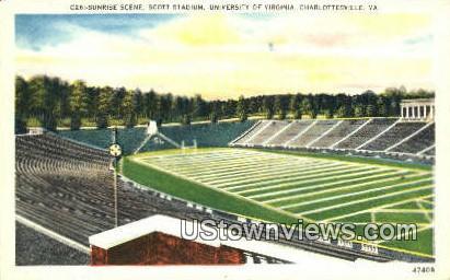 Scott Stadium University Of Virginia  - Charlottesville Postcard