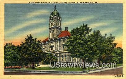 Rockingham County Court House  - Harrisonburg, Virginia VA Postcard