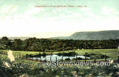 Massamutton Mountains  - Luray, Virginia VA Postcard