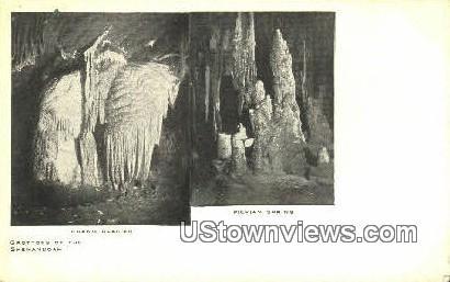 Grand Glaciers  - Luray Caverns, Virginia VA Postcard