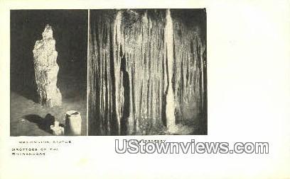 Washingtons Statue  - Luray Caverns, Virginia VA Postcard