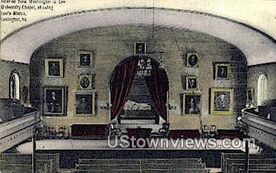 Washington & Lee University Chapel  - Lexington, Virginia VA Postcard