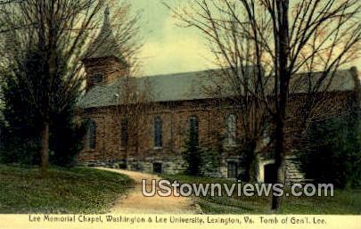 Chapel Washington & Lee University  - Lexington, Virginia VA Postcard