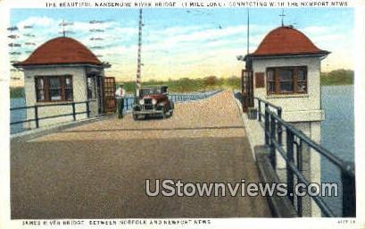Nansemond River Bridge  - Newport News, Virginia VA Postcard