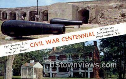 Civil War Centennial  - Appomattox, Virginia VA Postcard