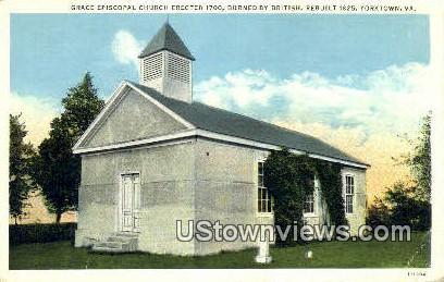 Grace Episcopal Church 1700  - Yorktown, Virginia VA Postcard