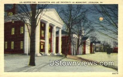 Winter Time Washington & Lee Univ. - Lexington, Virginia VA Postcard