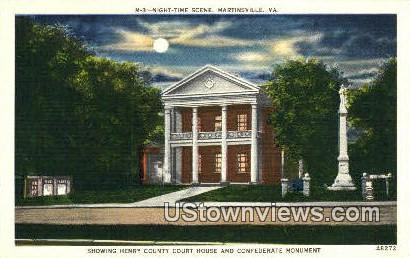 Henry County Court Hous - Martinsville, Virginia VA Postcard