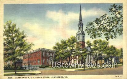 Centenary Methodist Church South  - Lynchburg, Virginia VA Postcard