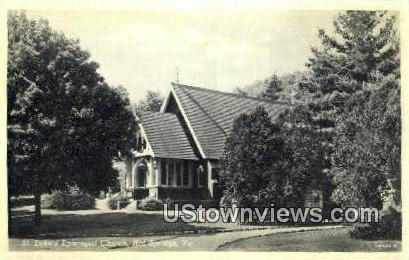 St Lukes Episopal Church  - Hot Springs, Virginia VA Postcard