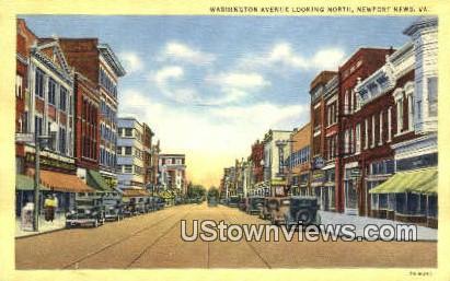 Washington Square Looking South  - Newport News, Virginia VA Postcard