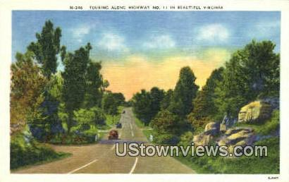 Touring Highway No 11 - Misc, Virginia VA Postcard